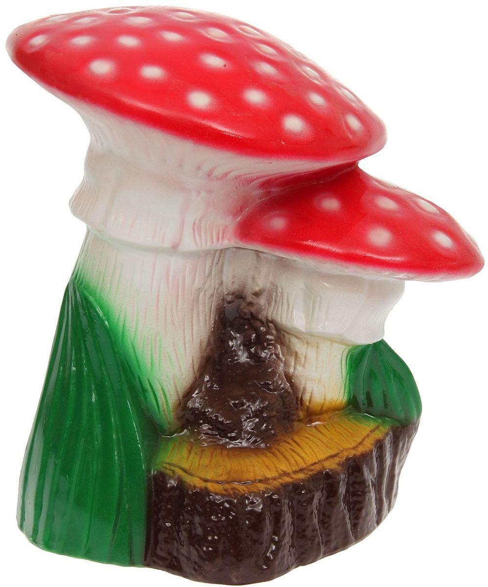 Фигура садовая Керамика ручной работы Пара мухоморов на пне, 30 х 36 х 36 смA6483LM-6WHОчаровательные грибочки украсят сад. Расположите гриб под деревом или в траве и приятно удивите прогуливающихся гостей. Симпатичная фигурка станет прекрасным подарком заядлому садоводу. Такой декор будет гармонично смотреться в огородах и на участках с обилием зелени. Дополните пространство сада интересной деталью? Садовая фигура из керамики подойдёт для уличных условий. Этому экологичному материалу не страшны ни влага, ни ультрафиолет, ни перепады температуры.