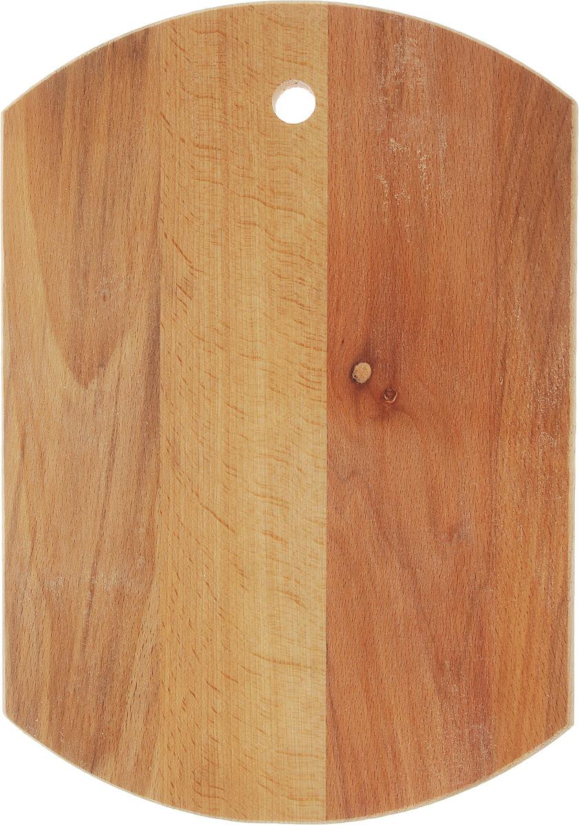 Доска разделочная Mayer & Boch Бочка, 35 х 24,5 х 1,8 смCM000001328Доска разделочная Mayer & Boch Бочка выполнена из бука и снабжена отверстием для подвеса. Бук наряду с дубом и тиком относится к ценным твердолиственным породам элитной группы категории А, класса люкс. По структуре древесины бук считается менее рыхлым, чем дуб, и более гибким, чем тик, при этом не уступает по прочности этим двум породам, а по красоте даже превосходит их. Бук отличают, прежде всего, уникальная текстура и естественный белый с желтовато-красным оттенком, со временем переходящим в розовато-коричневый цвет древесины. Бук прекрасно поддается шлифовке и полировке. Бук боится влаги, но, как в случае со всеми без исключения досками из древесины, вопрос влагостойкости решается пропиткой дерева специальным минеральным или льняным маслом. Масло защищает доску от коробления, рассыхания и растрескивания. Нельзя мыть в посудомоечной машине. Для продления срока эксплуатации рекомендуется периодически смазывать доску растительным маслом.