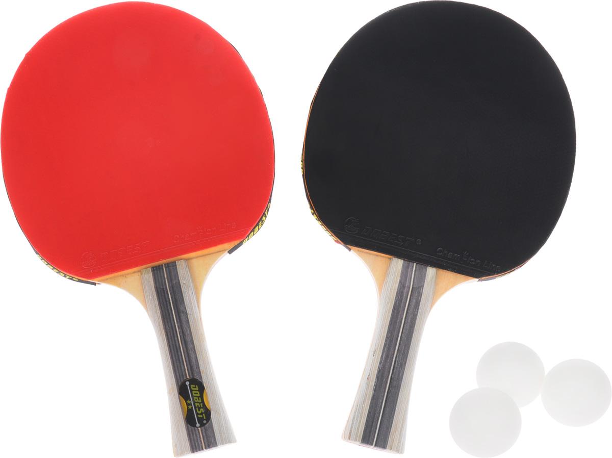 Набор для настольного тенниса Dobest, 5 предметовWRA523700Набор Dobest для настольного тенниса понравится вашему ребенку и надолго займет его внимание. Набор включает в себя 2 ракетки и 3 мяча. Ракетка, изготовленная из прочных качественных материалов, удобно лежит в руке и гарантирует хорошее чувство мяча и наиболее комфортную игру. Подходит для любителей и начинающих игроков.Такая ракетка дает возможность тренировать вращение и скорость и переходить на более высокий уровень игры. Мячи выполнены из высококачественного пластика. Размер ракетки: 25,5 х 15 см. Длина ручки: 10 см.Диаметр мяча: 3,8 см.