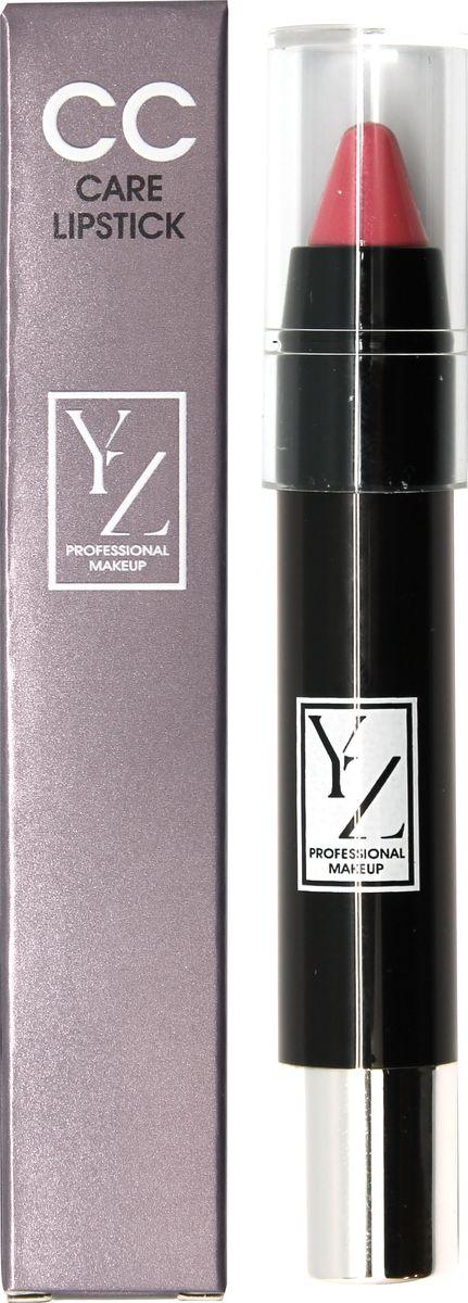 Yllozure помада-карандаш СС-уход, тон 431301207Новая концепция СС (Контроль Цвета) и защита губ от неблагоприятного воздействия окружающей среды реализована в лимитированной коллекции удобных карандашей для губ YZ СС-care. Формула помады основана на современных высокоочищенных восках и инертных полимерах, которые создают на губах эластичное защитное покрытие, предотвращающее обветривание, шелушение и раздражение. Она смягчает, разглаживает кожу губ и при этом тонирует и придает легкий влажный блеск. Помада не содержит отдушек и синтетических красителей, способных вызывать раздражения. В ее составе используются гипоаллергенные минеральные пигменты, которые придают губам натуральные полупрозрачные оттенки, не сушат губы и не «въедаются» в кожу.