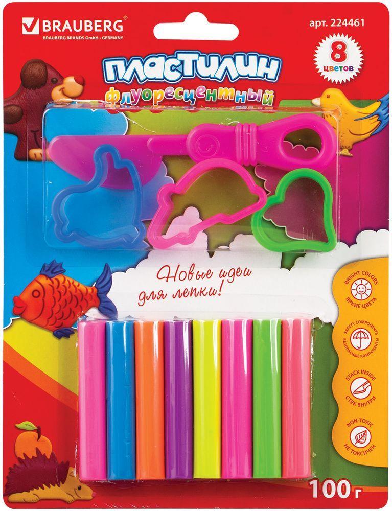 Brauberg Пластилин неоновый 8 цветов + 3 формочки23С 1483-08Набор состоит из пластилина высокого качества яркого неонового цвета и формочек. Может использоваться в качестве игрушки. Способствует развитию мелкой моторики, творческих способностей, получению положительных эмоций. Пластилин очень мягок и пластичен.