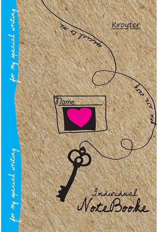 Kroyter Тетрадь Эко в линейку 40 листов37493Тетрадь общая представлена в формате А5. Блок выполнен из офсетной бумаги серого цвета и состоит из 40 листов в линейку. Обложка изготовлена из крафт-картона. Дизайн обложки — «Эко». Общая тетрадь скреплена с помощью скрепок.