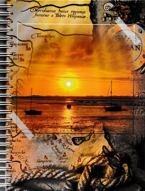 Бриз Блокнот Морской закат в клетку 96 листов72523WDФормат: 145x200 мм.Обложка: переплетный картон, лаковая ламинация.Материал: писчая бумага.Количество листов: 96, в клетку.