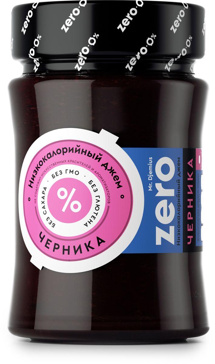 """Черника - вкусная и очень полезная лесная ягода, известная своими целебными свойствами. Все ее лучшие качества мы сохранили в этом джеме, при этом он содержит минимум калорий и прекрасно подойдет к вашей диете.Как и любой другой ягодный джем, Mr. Djemius Zero """"Черника"""" хорошо сочетается с молочными продуктами, кашами, выпечкой, а также со многими напитками."""