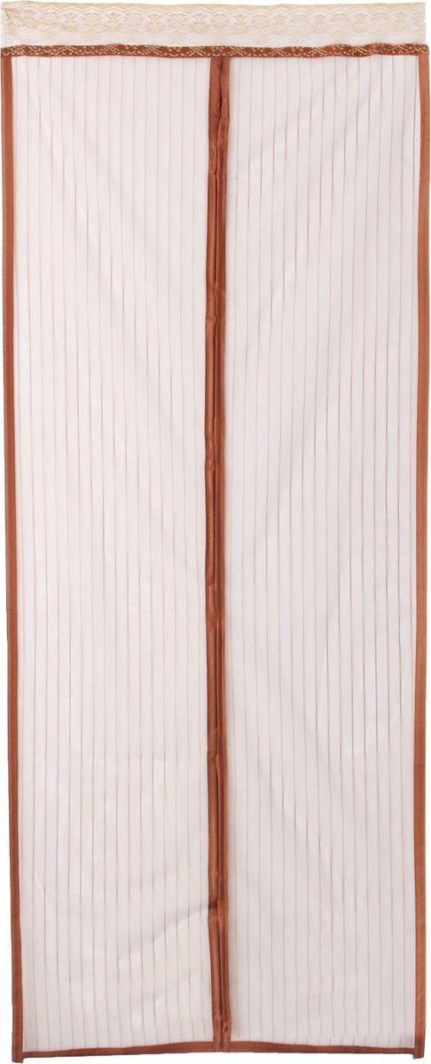 Сетка антимоскитная, на магнитах, цвет: коричневый, 100 х 210 см09840-20.000.00Занавес от насекомых на магнитной ленте универсален в использовании: подвесьте его при входе в садовый дом или балкон, чтобы предотвратить попадание комаров внутрь жилища. Наслаждайтесь свежим воздухом без компании надоедливых насекомых! Чтобы зафиксировать занавес в дверном проеме, достаточно закрепить занавеску по периметру двери с помощью кнопок, идущих в комплекте. В комплект входит: полиэстеровая сетка-шторамагнитная лентакрепёжные крючки. Принцип действия занавеса предельно прост: каждый раз, когда вы будете проходить сквозь шторы, они автоматически «захлопнутся» за вами благодаря магнитам, расположенным по всей его длине.
