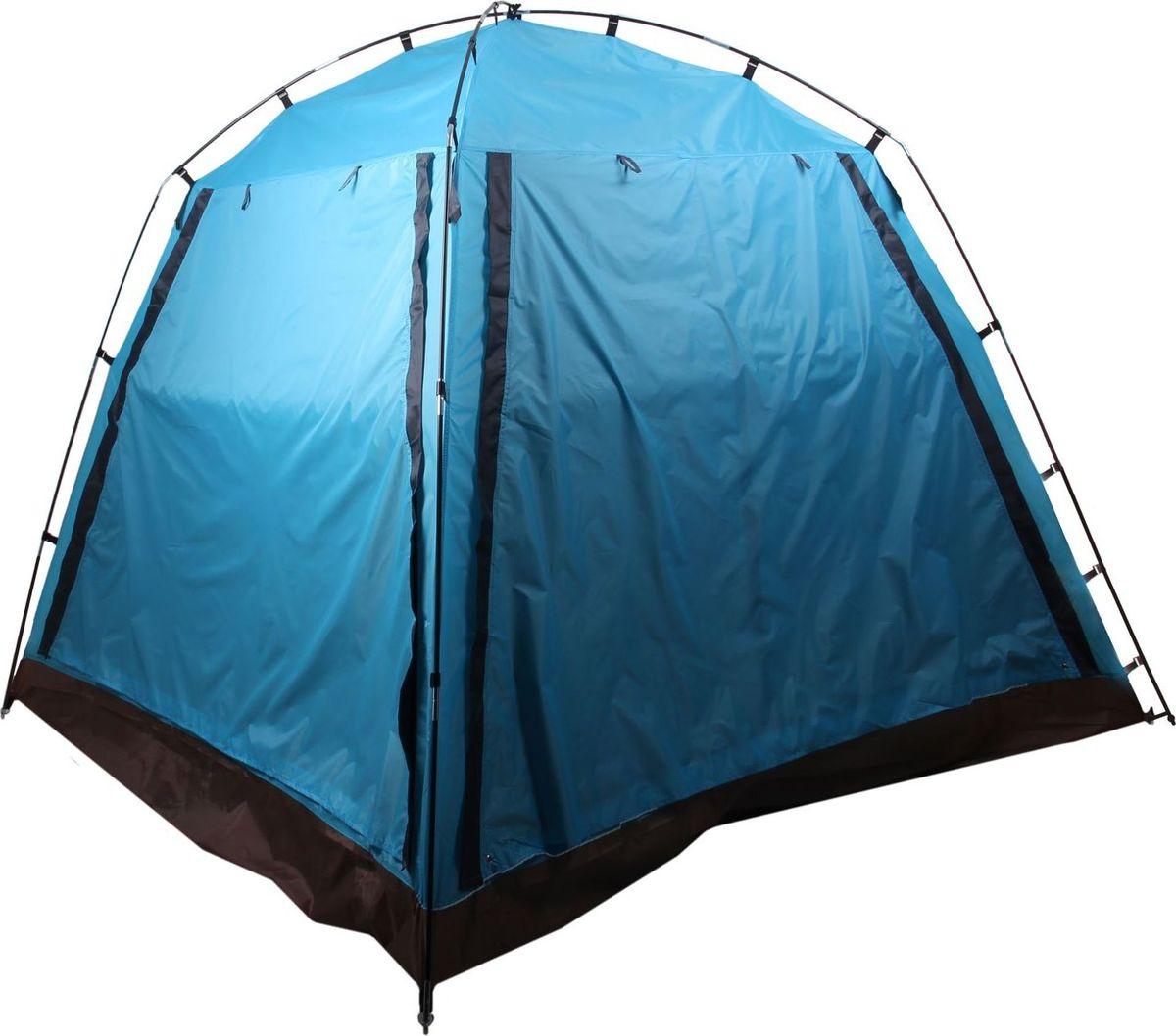 Шатер, со стенками, цвет: синий, 220 х 220 х 180 см09840-20.000.00Шатёр со стенками, размер 220 х 220 х 180 см, цвет синий позволит укрыться от солнца в жаркий день и защитит от надоедливых насекомых. Внутри палатки вы сможете расположиться для ночёвки в тёплую погоду. С двух противоположных сторон сделаны входы с москитной сеткой, закрывающиеся на молнию. Обе боковые стенки состоят из внешней откидывающейся части и оборудованы москитной сеткой, благодаря которой внутрь будет поступать свежий воздух. Характеристики Тент: таффета 210Т, влагозащита 3000 мм. Пол: оксфорд 210Д, влагозащита 3000 мм. Каркас: сталь, 8,5 мм. Вместимость: 3 человека. Для шатра-автомат подходит инструкция по сборке палатки-автомат.