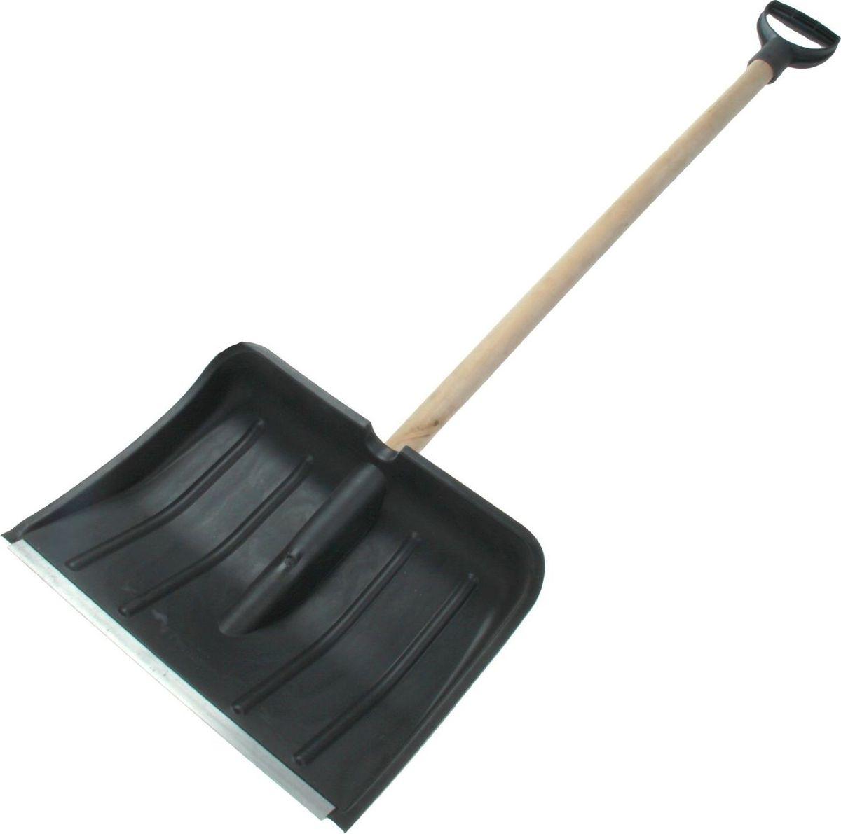 Лопата для снега Berossi Макси, с планкой, черенком и ручкой, длина 135 см531-401Лопата пластиковая 37х48х9,5 см, с планкой, с черенком, с ручкой Макси - самый необходимый инструмент на вашем садовом участке! Она оборудована специальным алюминиевым профилем, чтоб укрепить кромку совка, и позволит убирать снег и наледь еще эффективней. Специальная форма способствует комфортной работе, а сверхпрочный белорусский пластик устойчив к перепадам температур. Удобный деревянный черенок выдержит любые нагрузки, он легкий и комфортен в использовании. Небольшая ортопедическая ручка на конце будет удобным дополнением к конструкции. Будьте готовы к любым погодным неожиданностям!