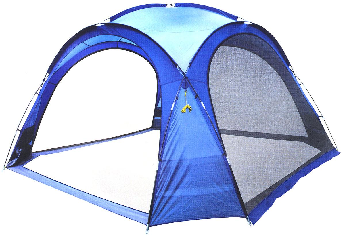 Шатер-тент Trek Planet Event Dome, четырехугольный, 425 х 425 х 235 см, цвет: синий, голубой09840-20.000.00Универсальный шатер четырехугольной формы Trek Planet Event Dome с огромным внутренним помещением, отлично подойдет как для дачи, так и в качестве беседки на природе или вечеринки с друзьями! Съемные двери из москитной сетки со всех 4-х сторон, что позволяет шатру отлично проветриваться, защищая от насекомых. При желании все двери можно свернуть в специальные карманы по углам тента.Особенности шатра:Легко собирается и разбирается,Очень устойчив на ветру,Большие съемные москитные сетки-двери со всех сторон, убирающиеся в специальные карманы,Каркас: прочные дуги из стеклопластика,Вместительный карман для мелочей в каждом углу шатра,Защитный полог на дверях защищает от насекомых,Возможность подвески фонаря в шатре.Палатка упакована в сумку-чехол с ручками, застегивающуюся на застежку-молнию. Размер шатра: 425 см х 425 см х 235 см.Водостойкость тента: 1000 мм.Материал дуг: стеклопластик 12,7/9,5 мм.Размер в сложенном виде: 23 см х 87 см.