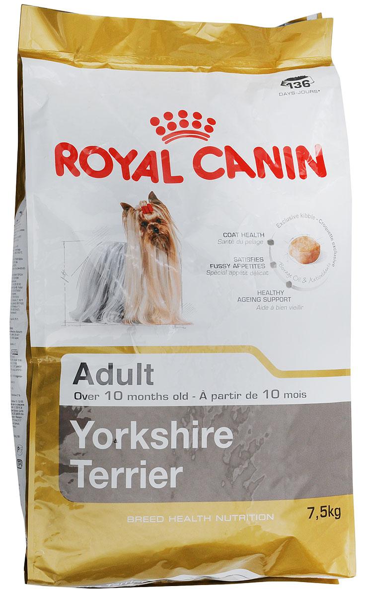 """Корм сухой Royal Canin """"Yorkshire Terrier Adult"""", для собак породы йоркширский терьер в возрасте от 10 месяцев, 7,5 кг"""
