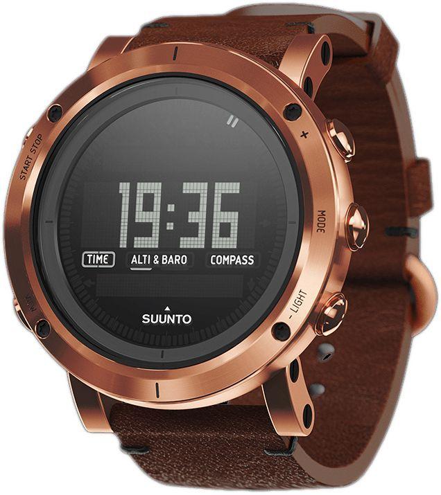 Часы спортивные Suunto Essential, цвет: бронзаALC-MB10-3BALRU1-1Любое захватывающее приключение начинается в глубине души. Вы неустанно стремитесь открывать неизведанные места нашей планеты, переживать новые эмоции и покорять высочайшие вершины. Мы обретаем вдохновение в вашей огненной страсти. Устройства Suunto Essential производятся на заводе в Финляндии компанией, которая первой выпустила прецизионные инструменты для активного отдыха на открытом воздухе. Эта коллекция воплощает в себе нашу историю приключений.Часы Suunto Essential Copper сочетают суровый внешний вид со стильным ремешком из первоклассной итальянской кожи растительного дубления. Этот ремешок нежно облегает вашу руку и не наносит ущерба окружающей среде.Альтиметр: Барометр Компас Индикация второго часового пояса Время восхода/захода солнца Термометр Штормовое предупреждение Водонепроницаемость до 30 м / 100 фт Глубиномер для снорклинга Сменная батарея Меню на нескольких языках (английском, французском, немецком, испанском)КомплектацияSuunto Essential Copper, тканевый футляр, карандаш, протирочная ткань, полевой блокнот с кратким руководством