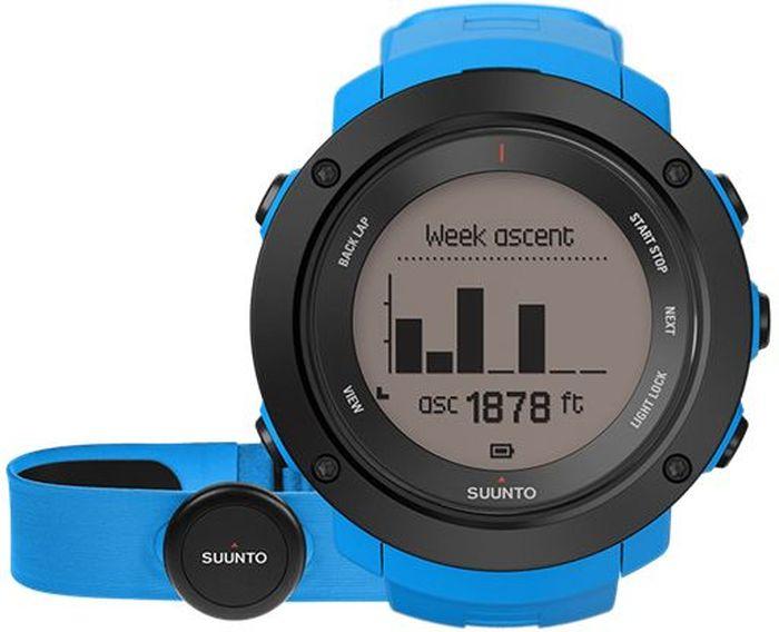 Часы спортивные Suunto Ambit3 Vertical HR, цвет: голубойBFB-301 dark blueНекоторые назовут это одержимостью, мы же называем это целеустремленностью. Suunto Ambit3 Vertical — это больше, чем просто GPS-часы для многоборья. Прокладывая путь вверх по горам, следуйте профилю высоты своего маршрута. Следите за общим набором высоты за год по ежедневным подъемам. Планируйте тренировки с помощью приложения Suunto Movescount и получайте виброоповещения на часы во время тренировок. Переживайте свой опыт заново и делитесь им с помощью приложения Suunto Movescount. МНОГОБОРЬЕ15 часов работы от батареи с 5-секундной GPS-точностью (1-минутная точность: 100 часов) Скорость, темп и расстояние Высотомер с технологией FusedAlti™ Навигация по маршруту и обратный путь Компас Запись частоты сердцебиения при плавании** Мощность при езде на велосипеде (технология Bluetooth Smart) Информация о нескольких видах спорта в одной тренировке Планировщик интервальных тренировок* Расчет времени восстановления на основе уровня активности Тест быстрого восстановления и тест восстановления во время сна (Firstbeat)** Тренировочные программы Movescount на часах Расширение возможностей с помощью приложений Suunto App Языки: английский, чешский, датский, немецкий, испанский, финский, французский, итальянский, японский, корейский, голландский, норвежский, польский, португальский, русский, шведский, китайскийПЛАНИРОВАНИЕ И ОТСЛЕЖИВАНИЕ СОВОКУПНОГО ПОДЪЕМАПланировщик маршрутов с поддержкой топографической карты*** Находите новые маршруты с помощью теплокарт на сайте Suunto Movescount и в приложении Suunto Movescount App Визуализация профиля высот и совокупного подъема*** Профиль высоты маршрута в часах Уведомления вибрацией в часах Отображение крутизны склона в реальном времени**** Общий набор высоты за день, за неделю, за месяц и за год Совместим с Stryd Running Powermeter Совместим с датчиками Bluetooth SmartПЕРЕЖИТЬ ЗАНОВО И ПОДЕЛИТЬСЯМобильные уведомления* Добавляйте снимки своих действий Moves в Movesc