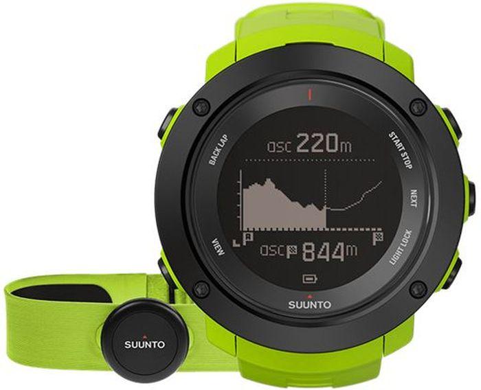 Часы спортивные Suunto Ambit3 Vertical HR, цвет: светло-зеленый529-ORANGEНекоторые назовут это одержимостью, мы же называем это целеустремленностью. Suunto Ambit3 Vertical — это больше, чем просто GPS-часы для многоборья. Прокладывая путь вверх по горам, следуйте профилю высоты своего маршрута. Следите за общим набором высоты за год по ежедневным подъемам. Планируйте тренировки с помощью приложения Suunto Movescount и получайте виброоповещения на часы во время тренировок. Переживайте свой опыт заново и делитесь им с помощью приложения Suunto Movescount. МНОГОБОРЬЕ15 часов работы от батареи с 5-секундной GPS-точностью (1-минутная точность: 100 часов) Скорость, темп и расстояние Высотомер с технологией FusedAlti™ Навигация по маршруту и обратный путь Компас Запись частоты сердцебиения при плавании** Мощность при езде на велосипеде (технология Bluetooth Smart) Информация о нескольких видах спорта в одной тренировке Планировщик интервальных тренировок* Расчет времени восстановления на основе уровня активности Тест быстрого восстановления и тест восстановления во время сна (Firstbeat)** Тренировочные программы Movescount на часах Расширение возможностей с помощью приложений Suunto App Языки: английский, чешский, датский, немецкий, испанский, финский, французский, итальянский, японский, корейский, голландский, норвежский, польский, португальский, русский, шведский, китайскийПЛАНИРОВАНИЕ И ОТСЛЕЖИВАНИЕ СОВОКУПНОГО ПОДЪЕМАПланировщик маршрутов с поддержкой топографической карты*** Находите новые маршруты с помощью теплокарт на сайте Suunto Movescount и в приложении Suunto Movescount App Визуализация профиля высот и совокупного подъема*** Профиль высоты маршрута в часах Уведомления вибрацией в часах Отображение крутизны склона в реальном времени**** Общий набор высоты за день, за неделю, за месяц и за год Совместим с Stryd Running Powermeter Совместим с датчиками Bluetooth SmartПЕРЕЖИТЬ ЗАНОВО И ПОДЕЛИТЬСЯМобильные уведомления* Добавляйте снимки своих действий Moves в Movesc