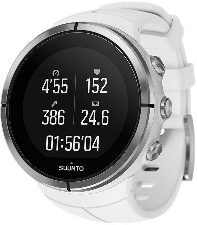 Часы спортивные Suunto Spartan Ultra, цвет: белыйALC-MB10-3BALRU1-1Suunto Spartan Ultra — это продвинутые GPS-часы для мультиспорта с цветным сенсорным экраном, водонепроницаемостью до 100 м (300 фт.) и до 26 ч работы батареи в режиме тренировки. Компас и барометрическая высота с FusedAlti™ позволяют никогда не сбиться с пути. 80 предустановленных спортивных режимов и конкретные показатели по видам спорта делают Spartan Ultra вашим оптимальным партнером для тренировок. Отслеживайте достижения и личные рекорды. Оптимизируйте тренировки, опираясь на анализ данных сообщества. Открывайте новые маршруты в Suunto Movescount с помощью тепловых карт, пусть часы ведут вас по маршруту. Часы Spartan Ultra созданы вручную в Финляндии и спроектированы с прицелом на надежность в любых условиях.ВЫДЕРЖАТ ЛЮБЫЕ ПРИКЛЮЧЕНИЯВодонепроницаемость до глубины 100 м / 300 фт 18 часов работы от батареи в режиме максимальной мощности при фиксированном интервале опроса GPS (1 с) для наиболее точной GPS-навигации 26 часов работы от батареи в режиме экономии энергии при фиксированном интервале опроса GPS (1 с) для достаточно точной GPS-навигации Защищенный цветной сенсорный экран с тремя кнопками GPS/GLONASS для навигации по маршруту и определения расположения следование маршруту в реальном времени с маршрутом и точками POIGPS используется для отслеживания набора или снижения высоты в тренировке Алгоритм FusedAlti™ использует данные GPS и барометрическую высоту для точной оценки высоты Цифровой компас с компенсацией склонения ОПЫТ СПОРТИВНЫХ ДОСТИЖЕНИЙИзмерение частоты сердцебиения, оценка потраченных калорий, максимальной эффективности тренировки и времени восстановления Поддержка более 80 видов спорта в режимах соревнований и интервальной тренировки Режим триатлона и мультиспорта Настройка интервальных тренировок на часахБег: таблица пройденных этапов со сведениями о темпе бега и частоте сердцебиения; точное измерение темпа с технологией FusedSpeed™ поддержка датчика Stryd для оценки затрат мо