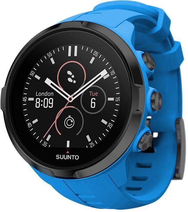 Часы спортивные Suunto Spartan Sport Wrist HR, цвет: голубойMZWA1S-L-SLSuunto Spartan Sport Wrist HR — это продвинутые GPS-часы для мультиспорта с наручным пульсометром, цветным сенсорным экраном, водонепроницаемостью до 100 м и до 12 ч работы батареи в режиме тренировки. Spartan Sport поставляется с 80 предустановленными спортивными режимами с широким набором показателей по видам спорта. Отслеживайте свой прогресс и тренируйтесь с умом, опираясь на данные спортивного сообщества Suunto Movescount. Все часы Spartan Sport произведены вручную в Финляндии. ГОТОВЫ К СОРЕВНОВАНИЯМВодонепроницаемость до глубины 100 м / 300 фт Срок работы батареи 8 часов в режиме максимальной мощности и при частоте обновления GPS 1 c, обеспечивающей наивысшую точность Срок работы батареи 12 часов в режиме экономной работы при частоте обновления GPS 1 c, обеспечивающей хорошую точность Защищенный цветной сенсорный экран с тремя кнопками GPS/GLONASS для навигации по маршруту и определения расположенияследование маршруту в реальном времени с маршрутом и точками POIGPS используется для отслеживания набора или снижения высоты в тренировке Цифровой компас с компенсацией склонения ОПЫТ СПОРТИВНЫХ ДОСТИЖЕНИЙИзмерение пульса на запястье для максимального удобства Совместимы с датчиком Suunto Smart SensorПоддержка более 80 видов спорта в режимах соревнований и интервальной тренировки Режим триатлона и мультиспорта Настройка интервальных тренировок на часах Бег: таблица пройденных этапов со сведениями о темпе бега и частоте сердцебиения; точное измерение темпа с технологией FusedSpeed™ поддержка датчика Stryd для оценки затрат мощности при беге Велосипедная гонка: таблицы этапов в реальном времени с пульсом, мощностью и скоростью поддержка измерителей мощности Suunto Bike Sensor и BLE Плавание: автоматическое построение интервалов при плавании в бассейне сохранение данных о частоте сердцебиения (доп.) АНАЛИЗ ТРЕНИРОВОКТренировочная нагрузка: общие сведения о тренировках за 30 дней на часах долговремен