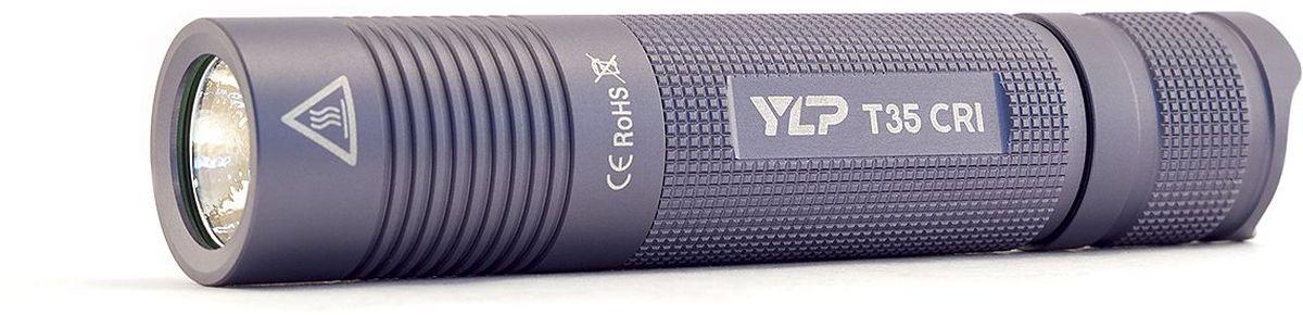 Фонарь ручной Яркий Луч YLP Escort T35CRIKOCAc6009LEDРучной фонарь Яркий Луч YLP Escort T35CRI. Профессиональная версия карманного фонаря T35, с диодом высокой цветопередачи, нейтральным светом и улучшенной эффективностью электроники. • Новейший светодиод с повышенной цветопередачей Nichia 219 °C 93CRI. • Нейтральный свет, приближенный к солнечному, 4000K.• Дальнобойность до 105 метров по стандарту ANSI.• Максимальный световой поток, 400 люмен.• Медная звезда с прямым отводом тепла.• Питание от аккумулятора 18650 (в комплект не входит).• Три режима яркости: 100%, 30%, 5%.• Время работы до 50 часов.• Качественная стабилизация яркости.• Индикация разряда батареи.Световой поток фонаря достигает 400 стабилизированных ANSI-люменов. Новейший нейтральный светодиод повышенной цветопередачи Nichia 219 °C 93CRI обеспечивает фонарю максимально естественную передачу цветов и оттенков. Цветовая температура составляет 4000К, на границе нейтрального и теплого света.Фонарь работает на Li-Ion аккумуляторе формата 18650 (в комплект не входит), разрешенный диапазон питания 3.0–4.2В. Рекомендуется использовать качественные защищенные аккумуляторы от проверенных производителей. Использование двух батареек CR123A или аккумуляторов RCR123 запрещено. В фонаре используется усовершенствованный драйвер, обеспечивающий более высокую эффективность работы в среднем и слабом режимах, при отсутствии какого-либо видимого мерцания. Продолжительность работы фонаря в максимальном режиме яркости составит 1.5–2.5 часа, в зависимости от емкости используемого аккумулятора. Время работы в среднем режиме около 8 часов, в слабом режиме — до 50 часов. При разряде батареи фонарь включает индикацию миганием основного диода. В этом случае рекомендуется перейти на слабый режим яркости и при первой возможности зарядить или заменить аккумулятор. Для защиты от случайного включения реализована возможность заблокировать фонарь отворотом хвостовой части. Качественный корпус из анодированного алюминия защитит фонарь от 