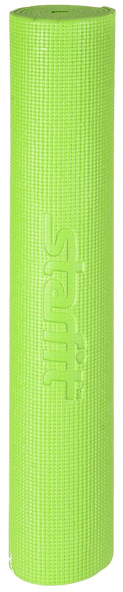 Коврик для йоги Starfit FM-102, цвет: зеленый, 173 х 61 х 0,6 смDRF-F367Коврик для йоги Star Fit FM-102 - это незаменимый аксессуар для любого спортсмена как во время тренировки, так и во время пре-стретчинга (растяжки до тренировки) и стретчинга (растяжки после тренировки). Выполнен из высококачественного ПВХ и оформлен оригинальным рисунком в виде цветов. Коврик используется в фитнесе, йоге, функциональном тренинге. Его используют спортсмены различных видов спорта в своем тренировочном процессе.Предпочтительно использовать без обуви. Если в обуви, то с мягкой подошвой, чтобы избежать разрыва поверхности коврика.