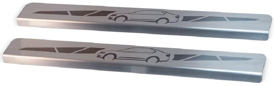 Накладки на пороги Автоброня, для Lada 4x4 3-дверная 1995-, 2 шт2706 (ПО)Накладки на пороги Автоброня создают индивидуальный интерьер автомобиля и защищают лакокрасочное покрытие от механических повреждений.- В комплект входят 2 накладки.- Использование высококачественной итальянской нержавеющей стали AISI 304(толщина 0,5 мм).- Надежная фиксация на автомобиле с помощью скотча 3М серии VHB.- Устойчивое к истиранию изображение на накладках нанесено методом абразивной полировки.- Идеально повторяют геометрию порогов автомобиля.- Легкая и быстрая установка.