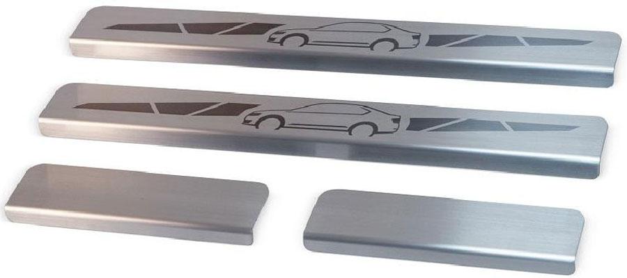 Накладки на пороги Автоброня, для Nissan X-Trail 2015-, 4 шт5104Накладки на пороги Автоброня создают индивидуальный интерьер автомобиля и защищают лакокрасочное покрытие от механических повреждений.- В комплект входят 4 накладки (2 передние и 2 задние).- Использование высококачественной итальянской нержавеющей стали AISI 304 (толщина 0,5 мм).- Надежная фиксация на автомобиле с помощью скотча 3М серии VHB.- Устойчивое к истиранию изображение на накладках нанесено методом абразивной полировки.- Идеально повторяют геометрию порогов автомобиля.- Легкая и быстрая установка.