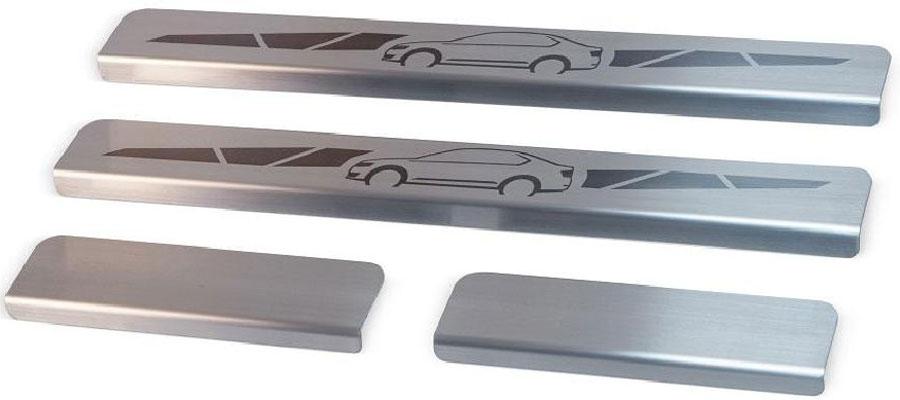 Накладки на пороги Автоброня, для Renault Duster 2012-, 4 шт5104Накладки на пороги Автоброня создают индивидуальный интерьер автомобиля и защищают лакокрасочное покрытие от механических повреждений.- В комплект входят 4 накладки (2 передние и 2 задние).- Использование высококачественной итальянской нержавеющей стали AISI 304 (толщина 0,5 мм).- Надежная фиксация на автомобиле с помощью скотча 3М серии VHB.- Устойчивое к истиранию изображение на накладках нанесено методом абразивной полировки.- Идеально повторяют геометрию порогов автомобиля.- Легкая и быстрая установка.