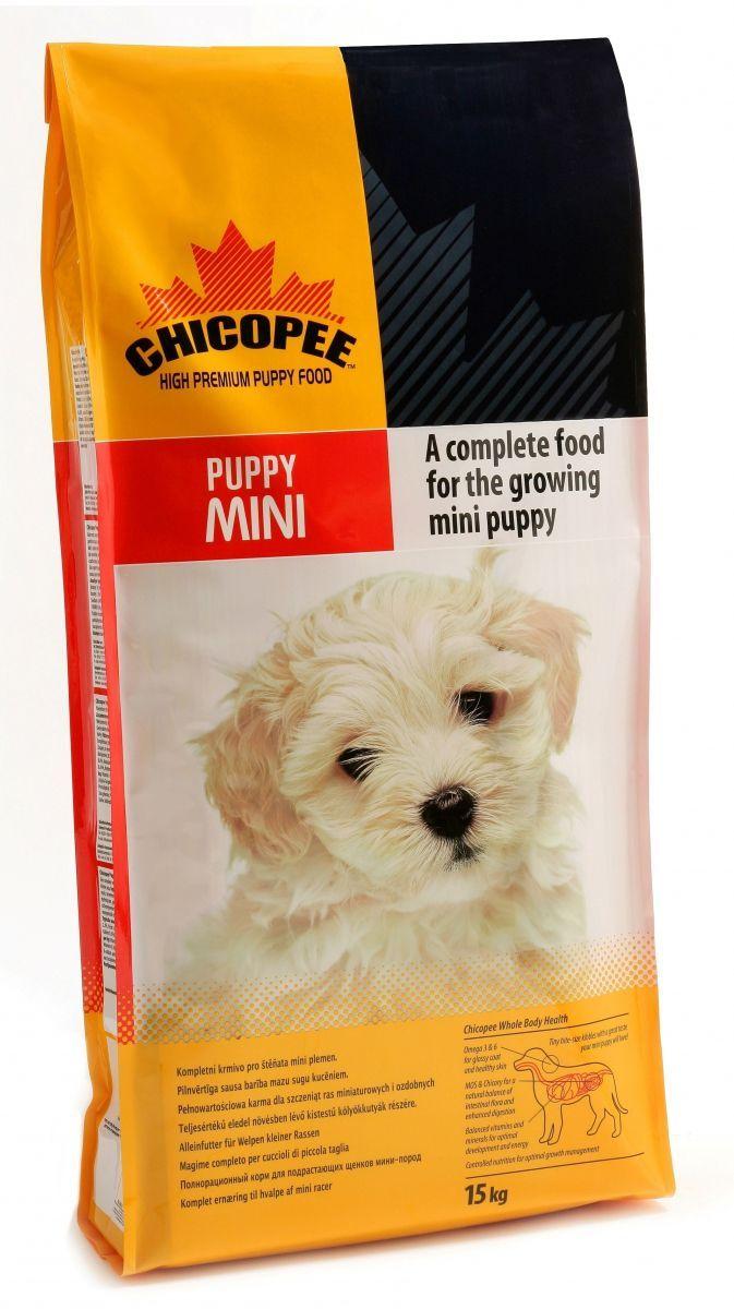 Корм сухой Chicopee Puppy Mini для щенков миниатюрных пород, 15 кг0120710Основой питания собаки на протяжении первого года жизни должен быть комплекс питательных веществ, обеспечивающих нормальное функционирование растущего организма. Учитывая эту особенность, компания Chicopee разработала корм, предназначенный для щенков всех пород, независимо от их размера и уровня активности.Поскольку белок — это главный строительный элемент для организма собаки, развития ее костей, сильной мускулатуры, а также роста шерсти и когтей, то главной особенностью данного корма является именно высокое содержание белка в составе муки из мяса домашней птицы, рыбной муки и белкового гидролизата.Особенности состава Chicopee для щенков всех пород:Витамины группы В, жирные кислоты Омега-3 и Омега-6 способствуют развитию здоровой нервной системы, которая впоследствии отвечает за адекватное поведение собаки, ее способность к обучению и запоминанию, отсутствие агрессии и стремление к коммуникации с сородичами и людьми;Значительное содержание углеводов в составе злаков обеспечивают молодое животное достаточной энергией на протяжении всего дня;Рыбий жир способствует формированию кожного и шерстного покрова животного, делая каждый его волос сильным, крепким и блестящим;Кальций, калий и фосфор обеспечивают формирование костей, суставов, хрящей, а также рост зубов и когтей.Ингредиенты: мука из мяса домашней птицы, кукуруза, жир домашней птицы, pис, пшеничная мука, пульпа сахарной свеклы, пшеница, дробленая пшеница, гидролизат белка, сушеные пивные дрожжи, xлористый калий, соль поваренная, порошок корня цикория (инулин 0,10%), экстракт дрожжей (МОS 0,10%).Добавки на 1 кг: витамин A 18,000 ME, витамин D3 1,450 ME, витамин E 180 мг, медь (сульфат меди, пентагидрат) 11 мг, цинк (оксид цинка) 110 мг, цинк (хелат цинка из гидрата аминокислот) 55 мг, йод (йодат кальция безводный) 3,5 мг, селен (селенид натрия) 0,2 мг.