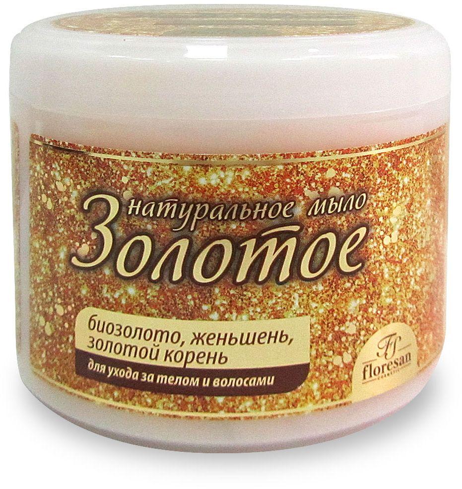 """Floresan Натуральное мыло для ухода за телом и волосами """"Золотое"""", 450 мл"""