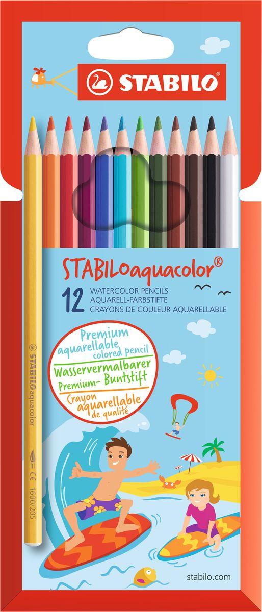 Stabilo Набор цветных карандашей Aquacolor 12 цветовPP-220Для создания рисунков с эффектом акварельных красок, надо растушевать рисунок кистью с водой или увлажнить бумагу перед рисованием. Идеально подходит для рисования в качестве классического цветного карандаша благодаря насыщенным цветам и мягкому грифелю, обеспечивающему легкость нанесения и отличную смешиваемость цветов. Stabilo aquacolor в наборах 12, 18, 24 и 36 цветов в картонной упаковке.