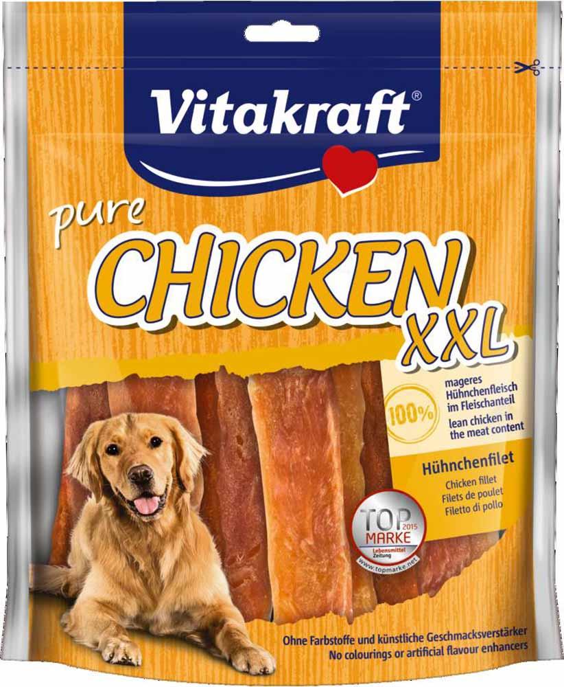 Лакомство Vitakraft, для собак, филе куриное, 250 г0120710Лакомство для собак из нежного куриного мяса является превосходным дополнением к основному рациону.