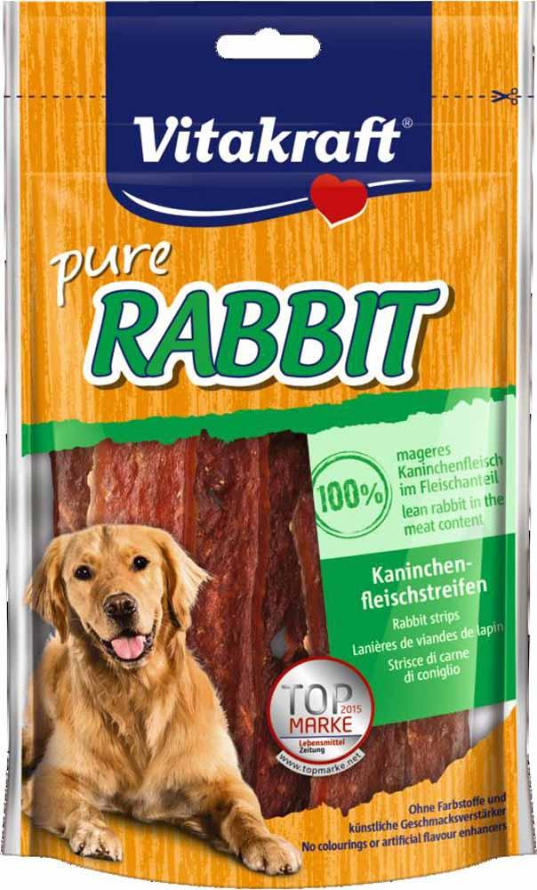 Лакомство Vitakraft, для собак, соломка из крольчатины, 80 г0120710Лакомство для собак из мяса кролика является превосходным дополнением к основному рациону.