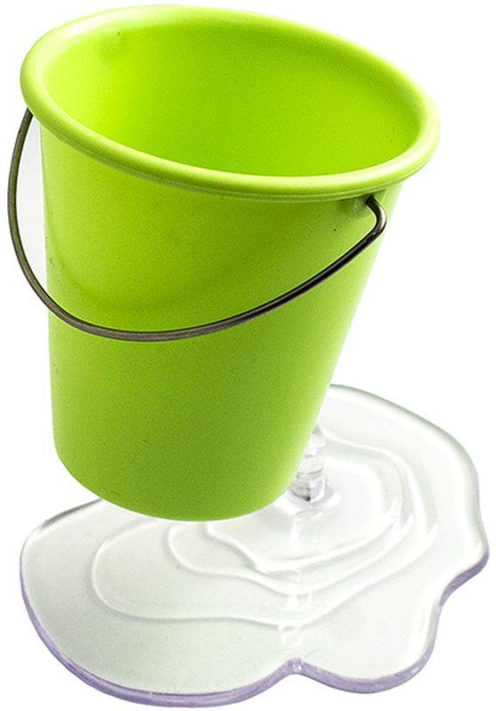 Эврика Органайзер настольный Ведерко цвет зеленый28823Необычная подставка для канцелярских принадлежностей создает иллюзию, будто небольшое ведро зависло в воздухе, а из отверстия в нем прямо на стол вытекает вода. Хотите удивить коллег или сделать выполнение уроков для ребенка более радостным поставьте на стол эту удобную сборную подставку для ручек, и пристальное внимание вам обеспечено. Материал: пластик.