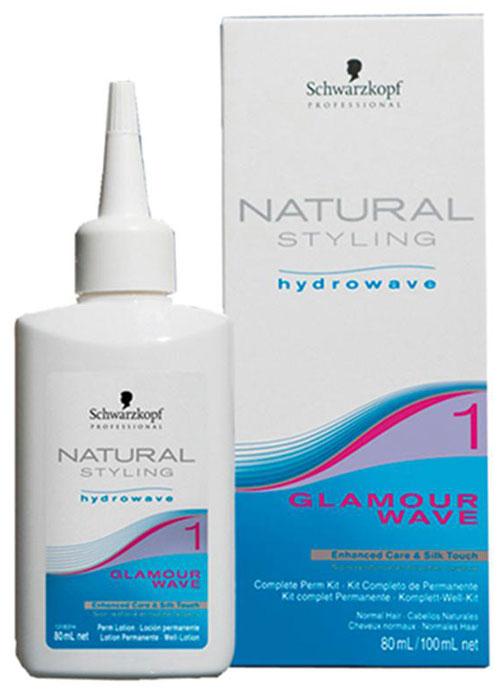Natural Styling Glamour Комплект для химической завивки 1, 180 мл72523WDНС Гламур комплект для химической завивки 1 для нормальных и слегка пористых волос; состоит из лосьона и нейтрализатора.