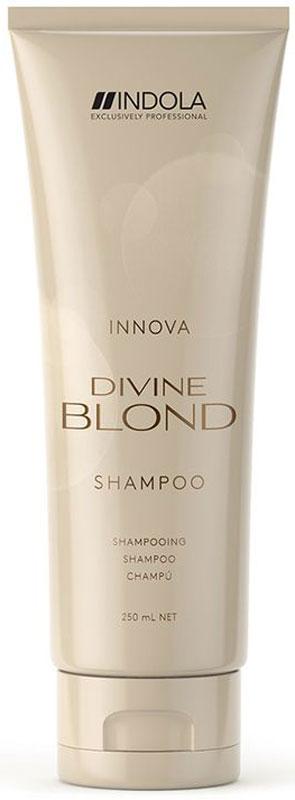 Indola Divine Blond Восстанавливающий Шампунь для Светлых Волос, 250 мл4605845001470Деликатно очищает волосы, придает им силу, мягкость и блеск. Комплекс Blonde&Force восстанавливает внутреннюю структру волос.