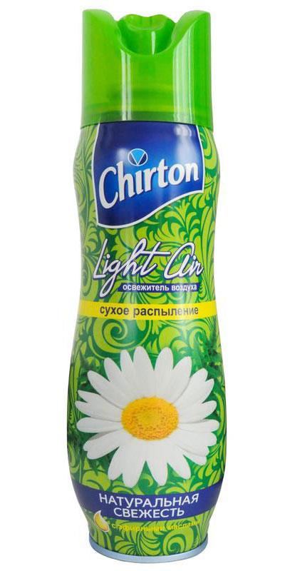 Освежитель воздуха Chirton Light Air, натуральная свежесть, 300 мл80653В освежителе воздуха Chirton Light Air используется новая формула - сухое распыление. Благодаря ей аромат становится более стойким, не остаются брызги и пятна на полу и мебели, которые могут возникнуть при использовании обычных аэрозолей. Освежитель воздуха Chirton Light Air помогает быстро избавиться от неприятных запахов.Товар сертифицирован.Уважаемые клиенты!Обращаем ваше внимание на возможные изменения в дизайне упаковки. Качественные характеристики товара остаются неизменными. Поставка осуществляется в зависимости от наличия на складе.