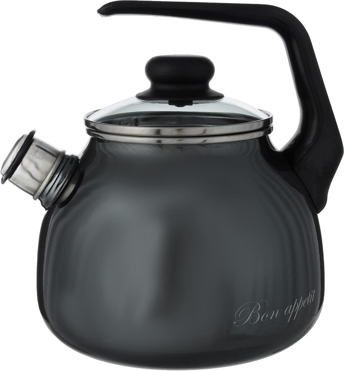 Чайник эмалированный Vitross Bon Appetit, со свистком, цвет: мокрый асфальт, 3 лVT-1520(SR)Чайник эмалированный Vitross Bon Appetit изготовлен извысококачественного стального проката состеклокерамическим покрытием. Стеклокерамика инертна и устойчива к пищевымкислотам, не вступает во взаимодействие с продуктами ине искажает их вкусовые качества. Прочный стальнойкорпус обеспечивает эффективную тепловую обработкупищевых продуктов и не деформируется в процессеэксплуатации.Чайник оснащен удобной пластиковой ручкой . Крышка чайника выполнена из стекла. Носикчайника с насадкой-свистком позволит вамконтролировать процесс подогрева или кипячения воды.Чайник пригоден для использования на газовых,электрических, стеклокерамических плитах, включаяиндукционные. Можно мыть в посудомоечной машине.Диаметр (по верхнему краю): 12,5 см.Высота чайника (с учетом ручки и крышки): 23 см.Высота чайника (без учета ручки и крышки): 15 см.