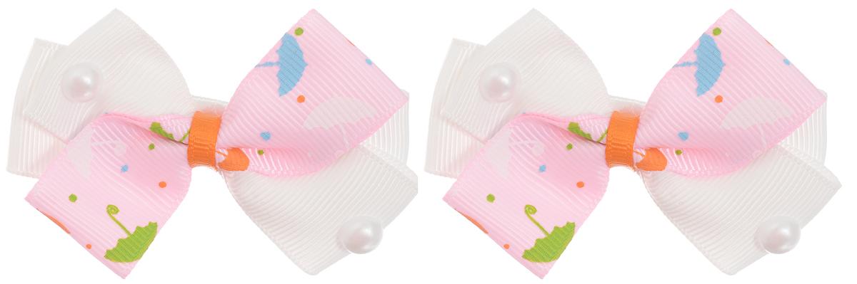 Babys Joy Резинка для волос цвет розовый белый 2 шт MN 121/2MP59.4DРезинка для волос Babys Joy выполнена в виде бантика из нескольких сплетенных вместе ленточек. Бантик декорирован жемчужной полубусиной. Резинка позволит убрать непослушные волосы с лица и придаст образу немного романтичности и очарования.Резинка для волос Babys Joy подчеркнет уникальность вашей маленькой модницы и станет прекрасным дополнением к ее неповторимому стилю.