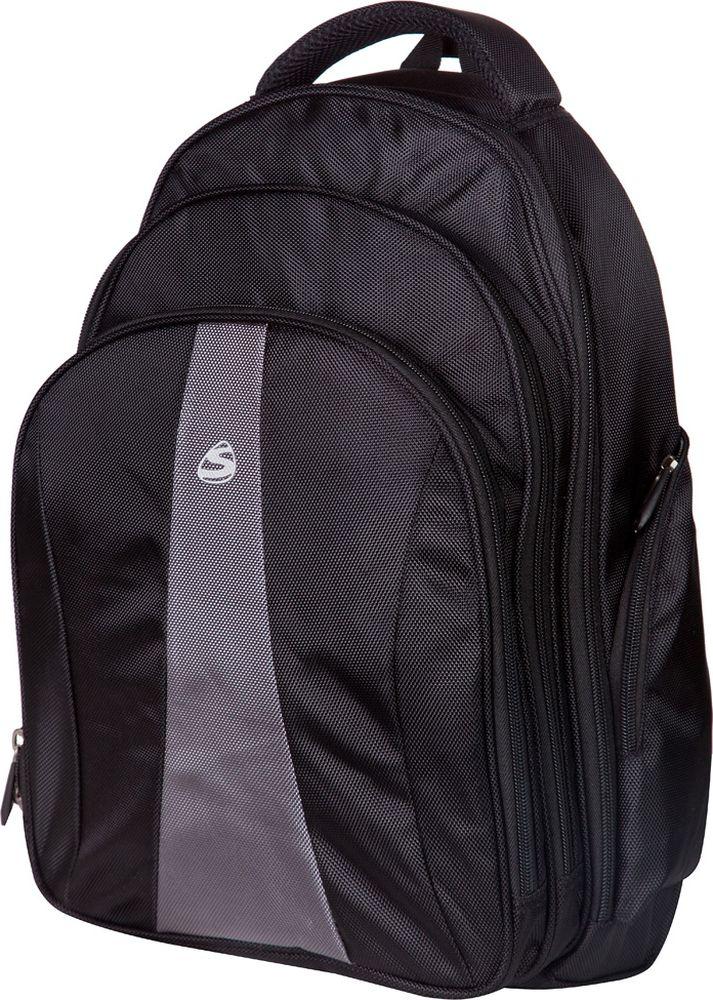 Steiner Ранец для мальчика цвет черный, серый72523WDСтильный строгий рюкзак для мужчин и подростков - многофункциональный, вместительный. Благодаря средним размерам, наличию множества карманов, универсальной расцветке рюкзак подойдет, как для школьников и студентов, так и мужчинам для городских передвижений.Характеристики: современный дизайн; анатомическая, дышащая спинка; плотные широкие легко регулируемые лямки под рост позволяют равномерно распределять нагрузку на спину; влагоизоляционный материал не даст промокнуть ранцу; уплотненная ручка для переноски в руках; дополнительная ручка-петля для подвешивания рюкзака на крючок; качественные молнии, защищающие попадание влаги внутрь рюкзака; легко моющийся долговечный материал; одно большое основное отделение на молнии с двумя бегунками; два передних накладных отделения на молнии (в переднем расположен органайзер для канцелярии); боковые карманы на молнии для мелочей.