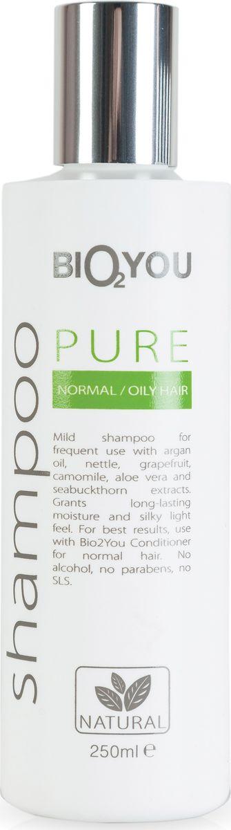 BIO2You Шампунь Pure для нормальных волос, 250 мл72523WDНежный натуральный шампунь для частого использования с облепихой. Увлажняeт и делаeт волосы шелковистыми, легкими, обеспечивая сияние. Не содержит спирта, парабенов и SLS.
