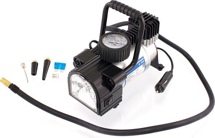 Компрессор автомобильный DolleX, предохранитель, фонарь, сумка, 12V, 14 A, 150PSI, 40 л/минDW25Производительность: 40 л/мин Напряжение: 12-13,5 В Максимальный ток: 14А Максимальное давление: 10 кг/см3 (150 PSI) Тип фонаря: светодиодный Алюминиевый корпус, мотор с прямым приводом, в конструкции отсутствуют шестерни, металлические поршень и клапаны, низкий уровень шума (69 Дб), яркий светодиодный фонарь, брезентовая сумка в комплекте.