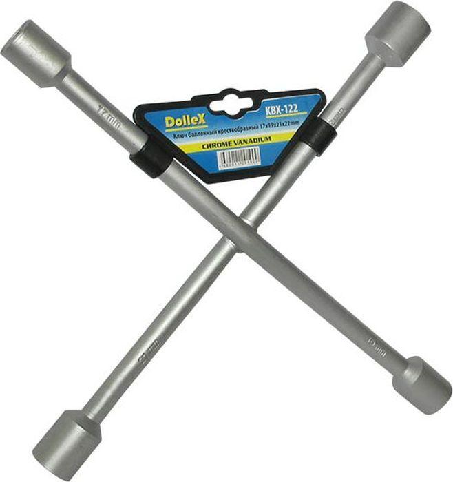 Ключ баллонный DolleX, крест 17x19x21x222706 (ПО)Изготовлен из хром-ванадиевой стали.