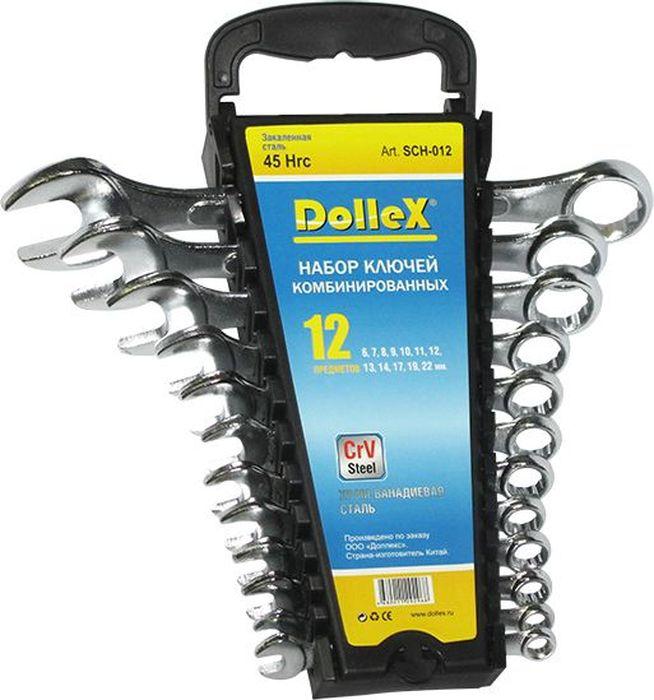 Набор ключей DolleX, комбинированные, цвет: хром, 6-22 мм, 12 шт5104Набор предназначен для монтажа и демонтажа резьбовых соединений. Профиль кольцевого зева имеет 12 граней, что увеличивает площадь соприкосновения рабочих поверхностей и снижает риск деформации граней крепежа при монтаже. - размерный ряд: 6 мм; 7мм; 8мм; 9мм; 10мм; 11мм; 12мм; 13мм; 14мм; 17мм; 19 мм; 22 мм- изготовлено их хром-ванадиевой стали (CrV Steel) - удобный пластиковый держатель