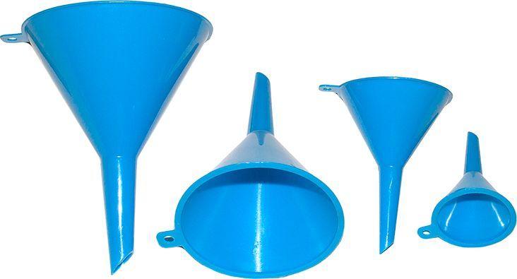 Набор воронок DolleX, 50 мм, 75 мм, 95 мм, 115 мм, 4 штCA-3505Воронки для технических жидкостей.Комплект 4 шт.В комплект входят воронки диаметром:- D=50 мм.;- D=75 мм.;- D=95 мм.;- D=115 мм.Цвет: синий
