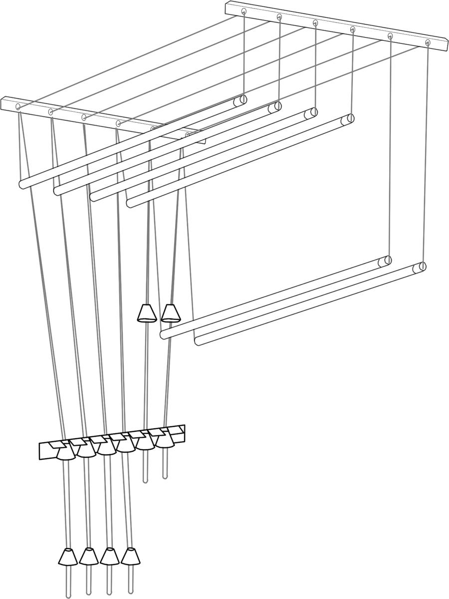 Сушилка для белья ЛакМет Лиана, потолочная, цвет: белый, 50 х 40 х 1200 ммIR-F1-WСушилка для белья ЛакМет Лиана позволяет свободно расположить большое количество белья, а также экономит свободное пространства в доме. Изделие можно установить на потолке, балконе или разместить на стеке в ванной. Сушилка включает в себя: пластиковые кронштейны с роликами, которые крепятся к потолку, металлические стержни (подвешиваются горизонтально), фиксирующая скоба (крепится в любом удобном месте стены). Кронштейн: 2 шт. Диаметр стержня: 1,2 см. Количество стержней: 5 шт.