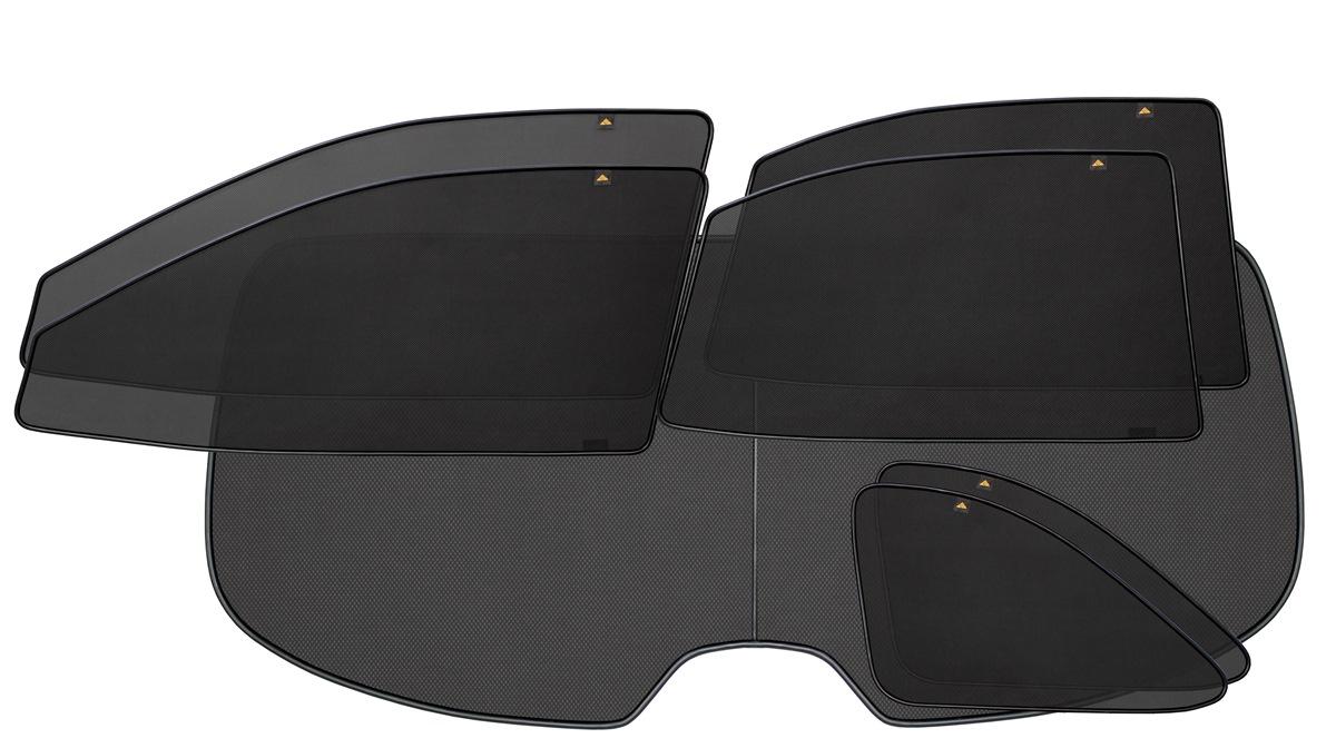 Набор автомобильных экранов Trokot для Hyundai Santa Fe 2 (2006-2012), 7 предметовVT-1520(SR)Каркасные автошторки точно повторяют геометрию окна автомобиля и защищают от попадания пыли и насекомых в салон при движении или стоянке с опущенными стеклами, скрывают салон автомобиля от посторонних взглядов, а так же защищают его от перегрева и выгорания в жаркую погоду, в свою очередь снижается необходимость постоянного использования кондиционера, что снижает расход топлива. Конструкция из прочного стального каркаса с прорезиненным покрытием и плотно натянутой сеткой (полиэстер), которые изготавливаются индивидуально под ваш автомобиль. Крепятся на специальных магнитах и снимаются/устанавливаются за 1 секунду. Автошторки не выгорают на солнце и не подвержены деформации при сильных перепадах температуры. Гарантия на продукцию составляет 3 года!!!
