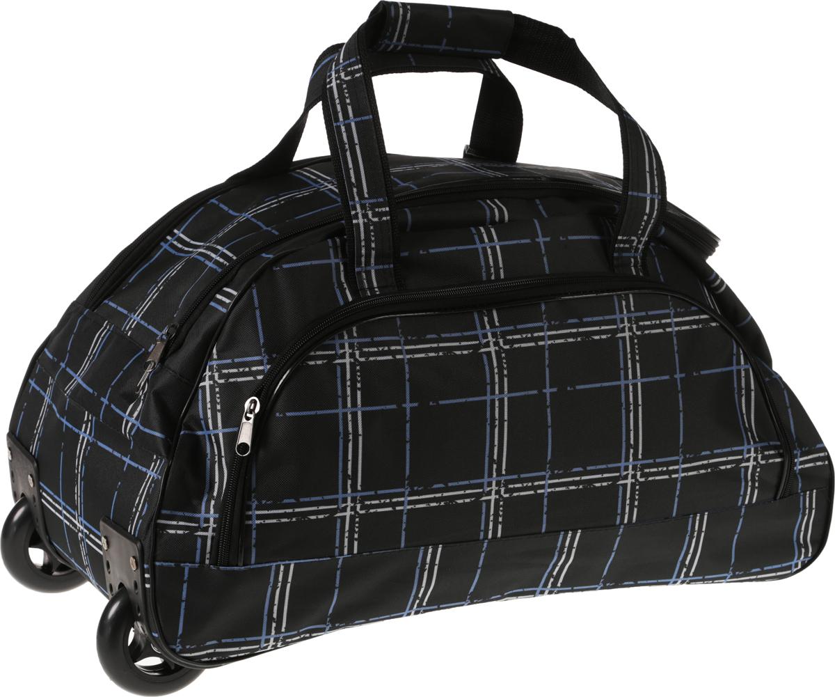 Сумка дорожная AMeN, цвет: черный. 1331008RivaCase 8460 blackПрочная дорожная сумка прекрасно подойдёт как в путешествии, так и в деловых поездках. Она позволяет взять с собой всё необходимое: от нижнего белья до брюк, юбок и пиджаков. Сумку можно транспортировать за ручки, на плече, а лучше катить с комфортом при помощи выдвижной телескопической ручки и двух колёс у основания.Торговая марка AMeN производит сумки на собственной фабрике. При пошиве изделий используются современные материалы, обеспечивающие износостойкость и яркость материала. Дизайн аксессуаров разрабатывается в соответствии с последними модными тенденциями.