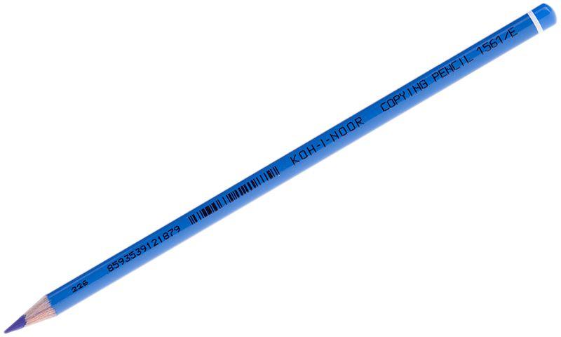 Koh-I-Noor Карандаш химический цвет синий72523WDШтрихи химического карандаша не отличаются от штрихов обычного карандаша до момента контакта с водой. Химический карандаш предназначен и для заполнения документов под копирку. Используется так же во многих отраслях промышленности.