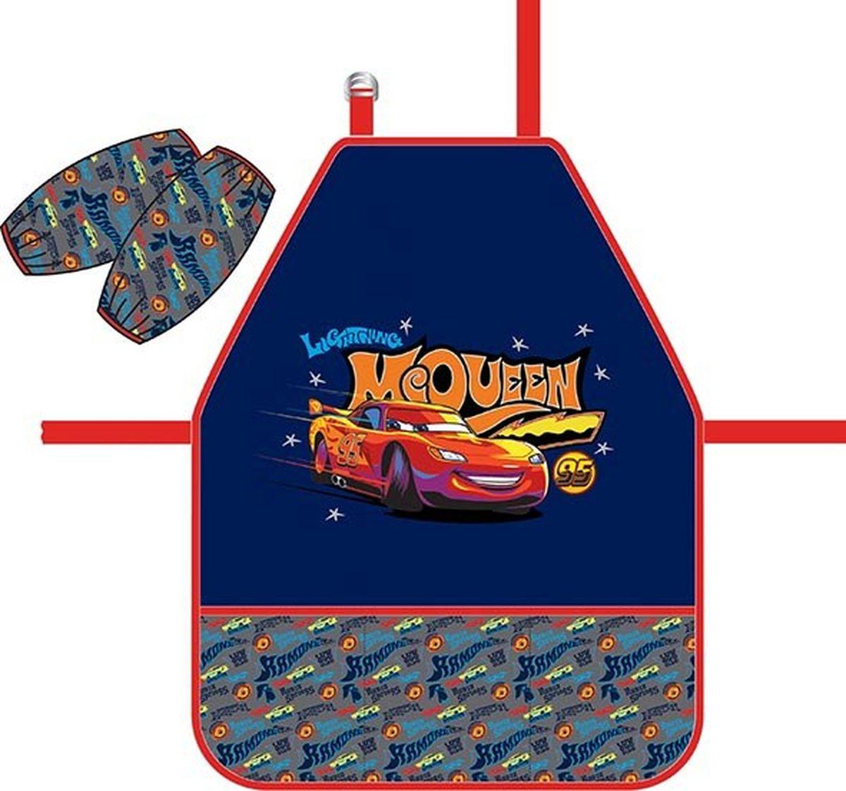 Disney Фартук детский Тачки Ретро ралли с нарукавниками72523WDФартук для детского творчества с нарукавниками. Нарукавники на липучках-фиксаторах. Легкая ткань с водоотталкивающей пропиткой. Фартук дополнен тремя кармашками.
