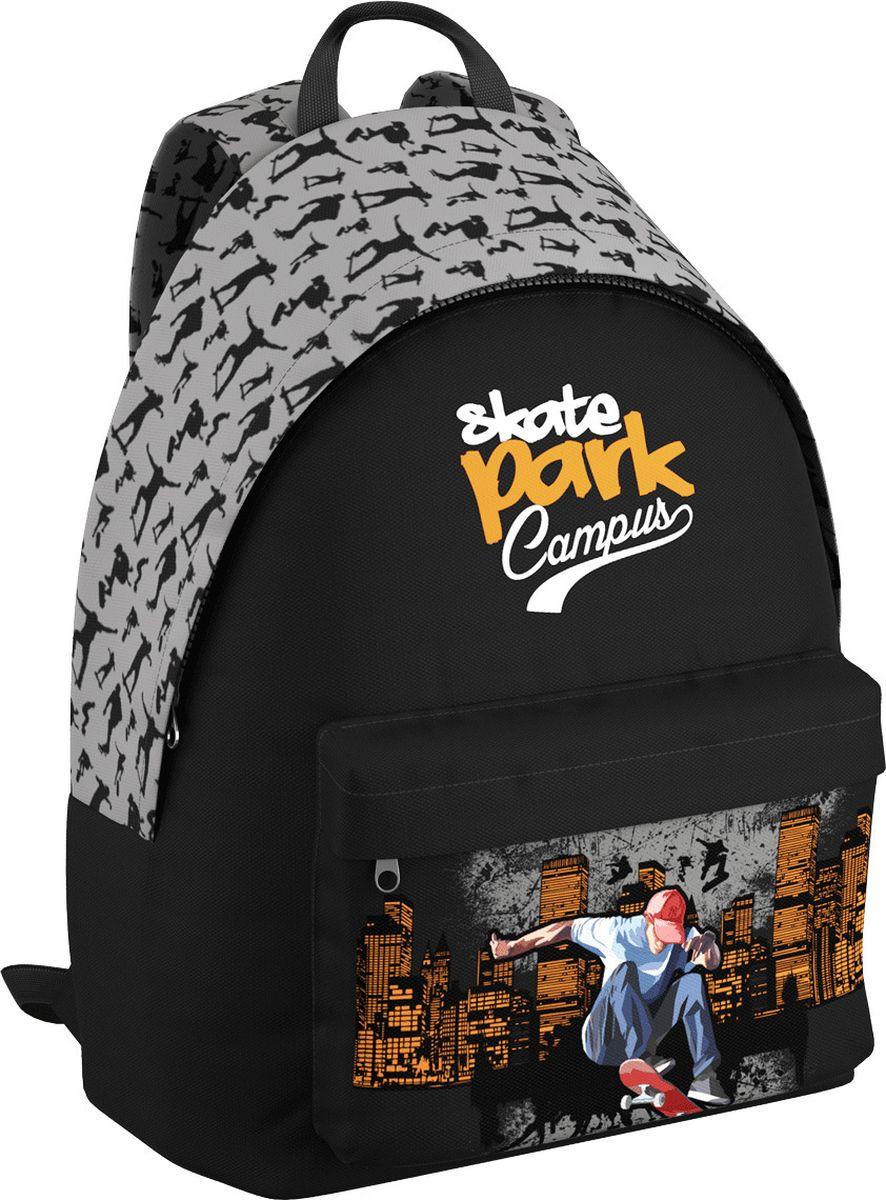 Erich Krause Рюкзак Skate EasyGo72523WDЛегкий и компактный городской рюкзак. Спина дополнительна уплотнена. Одно основное отделение и большой фронтальный карман. В основном отделении предусмотрен органайзер. Вмещает формат А4. Вес рюкзака без наполнения 350 г. Размеры: 40 х 39 х 18 см.