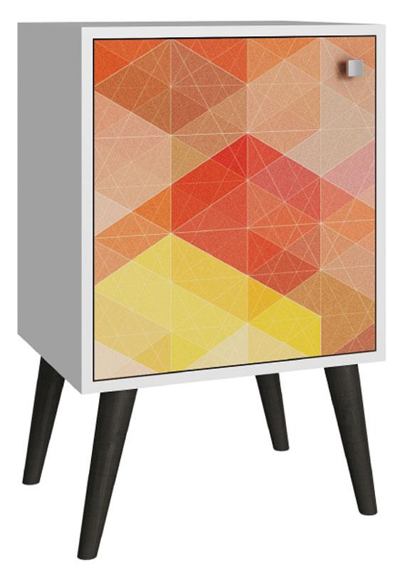 Тумба Manhattan Comfort, цвет: белый, серыйFS-91909Качественная и стильная мебель Manhattan Comfort для дома и дачи. Производство Бразилия. Страна бренда: Соединенные Штаты.