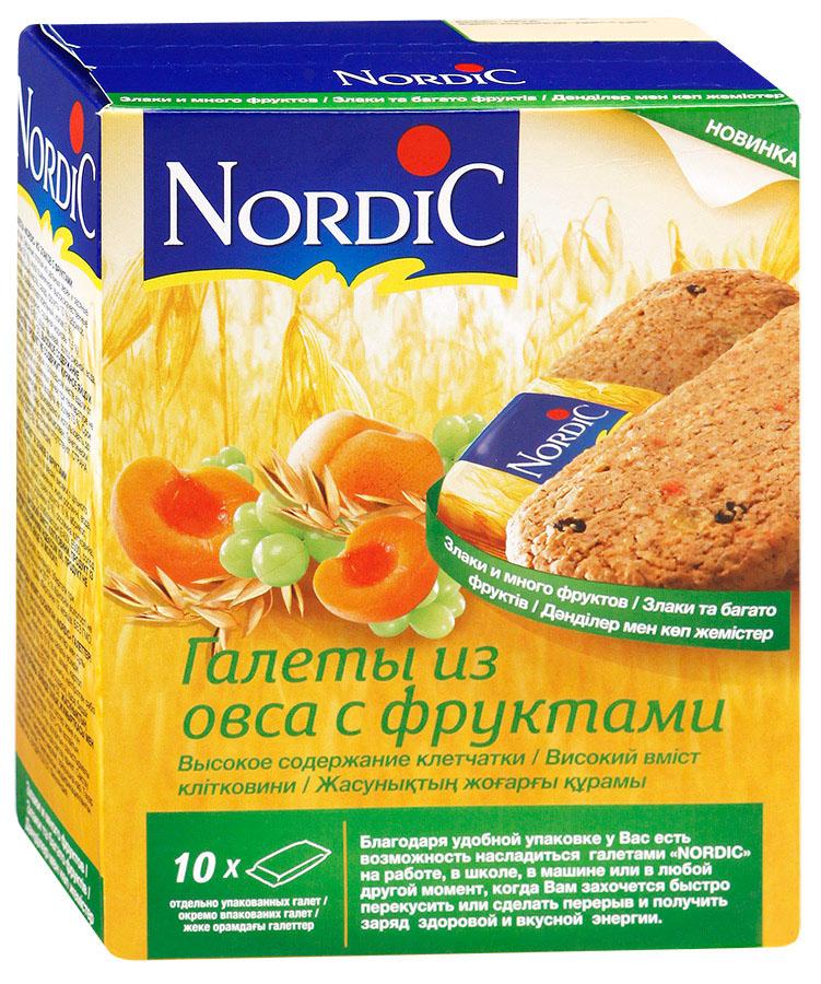 Nordic галета из овса с фруктами, 30 г0120710Вкусный полезный перекус, традиционный овсяный продукт (печенье из овса) по особой здоровой, полезной, финской рецептуре Не очень сладкий продукт, не содержит молока и яиц. Удобная упаковка и все преимущества цельного зерна и овсяной каши в одной галете.