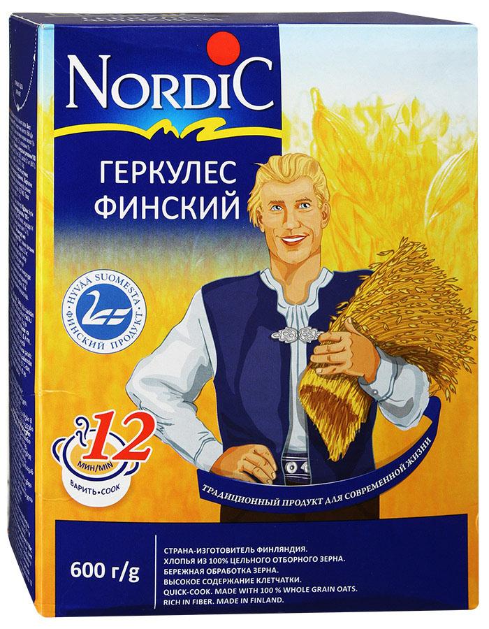 """Время варки привычного нам Геркулеса -20-25 минут. Благодаря уникальной технологии переработки зерна, """"Финский Геркулес Nordic"""" варится, действительно, 12 минут.Хлопья для каш """"Nordic""""— вкусный продукт для заботливых мам и любимых детей! Место произрастания большей части зерна, из которого производится продукция под маркой """"Nordic"""" - Финляндия, она традиционно и заслуженно считается одной из самых экологически благополучных стран мира.RAISIO- старейший в Финляндии и заслуженно является одним из уважаемых в мире переработчиков зерна. Собственные поля и селекционный центр RAISIO, позволяют контролировать процесс на всех стадиях: селекция посевного материала, посев, производство и продажа конечного продукта.  Уникальная технология RAISIO по очистке зерна и производства хлопьев позволяет сохранить полезные свойства цельного зерна, гарантирует легкость в приготовлении, а такжеобеспечивает изумительный вкус приготовленных блюд. Хлопья для каш """"Nordic"""" несодержат консервантов, ароматизаторов икрасителей."""
