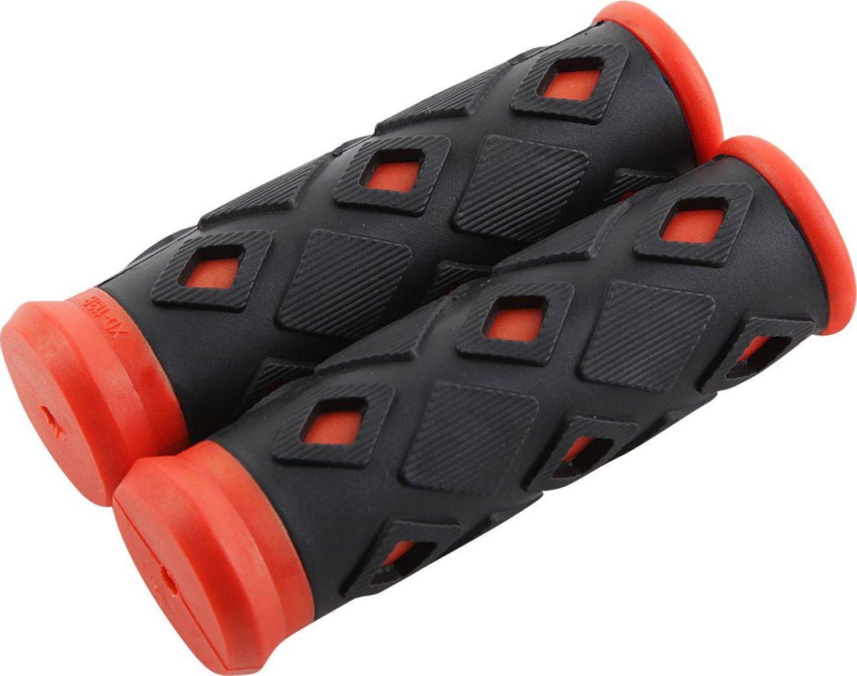 Рукоятки руля STG ХD-113B, цвет: черный, красный, 95 ммMW-1462-01-SR серебристыйГрипсы предназначены для увеличения сцепления рук с рулём. Длина грипс 95 мм.